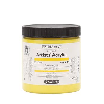 PRIMAcryl® Finest Artists' Acrylic Zitronengelb Tiegel  237 ml 13205053