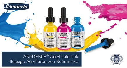 AKADEMIE Acryl color INK Videobild DE