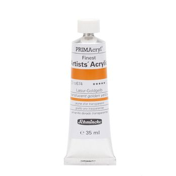 PRIMAcryl® Finest Artists' Acrylic Lasur-Goldgelb Tube  35 ml 13674009