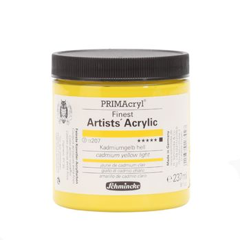 PRIMAcryl® Finest Artists' Acrylic Kadmiumgelb hell Tiegel  237 ml 13207053