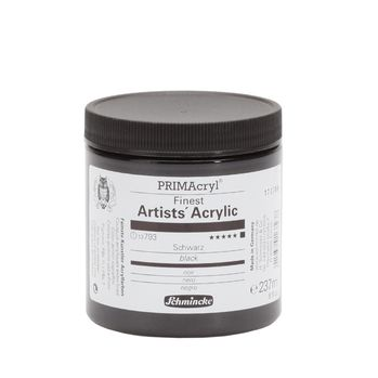 PRIMAcryl® Finest Artists' Acrylic Schwarz Tiegel  237 ml 13793053