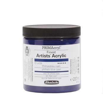 PRIMAcryl® Finest Artists' Acrylic Phthaloblau cyan Tiegel  237 ml 13439053