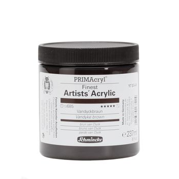 PRIMAcryl® Finest Artists' Acrylic Vandyckbraun Tiegel  237 ml 13685053