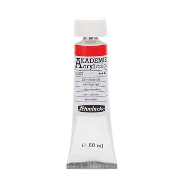 AKADEMIE® Acryl color Zinnoberrot Tube  60 ml 23333011