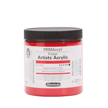 PRIMAcryl® Finest Artists' Acrylic Kadmiumrot mittel Tiegel  237 ml 13320053