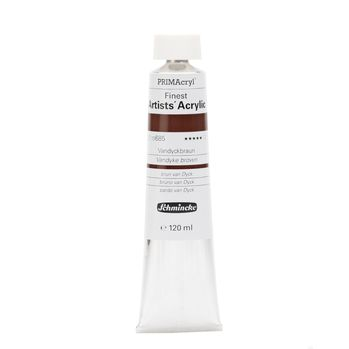 PRIMAcryl® Finest Artists' Acrylic Vandyckbraun Tube  120 ml 13685012