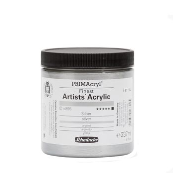 PRIMAcryl® Finest Artists' Acrylic Silber Tiegel  237 ml 13895053
