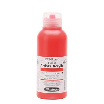 PRIMAcryl® Finest Artists' Acrylic Kadmiumrot hell Flasche  250 ml 13317027