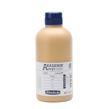 AKADEMIE® Acryl color Gold Flasche  500ml 23801028
