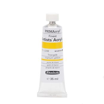 PRIMAcryl® Finest Artists' Acrylic Titangelb Tube  35 ml 13208009
