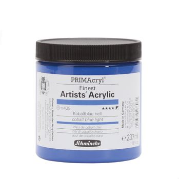 PRIMAcryl® Finest Artists' Acrylic Kobaltblau hell Tiegel  237 ml 13435053