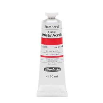 PRIMAcryl® Finest Artists' Acrylic Zinnoberrot Tube  60 ml 13318011
