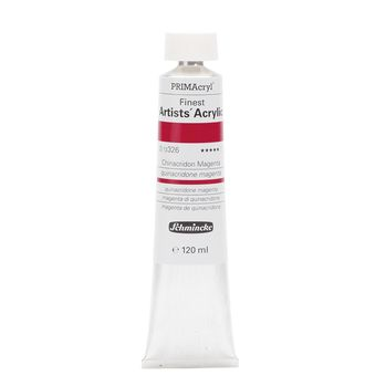 PRIMAcryl® Finest Artists' Acrylic Chinacridon Magenta Tube  120 ml 13326012