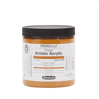 PRIMAcryl® Finest Artists' Acrylic Lichter Ocker Tiegel  237 ml 13675053