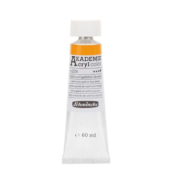 AKADEMIE® Acryl color Kadmiumgelbton dunkel Tube  60 ml 23228011