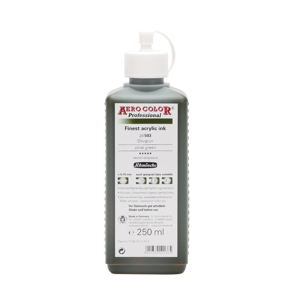 acrylfarbe aero color 174 professional olivgr 252 n 250 ml
