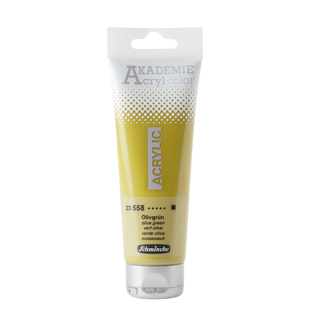 AKADEMIE® Acryl color Olivgrün Tube  120 ml 23558012