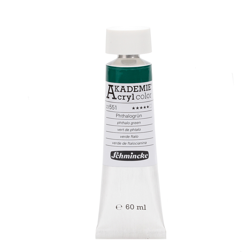 AKADEMIE® Acryl color Phthalogrün Tube  60 ml 23551011
