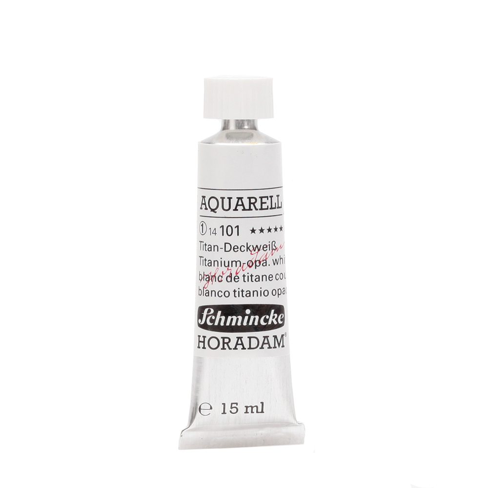 HORADAM® AQUARELL Titan-Deckweiß Tube  15 ml 14101006