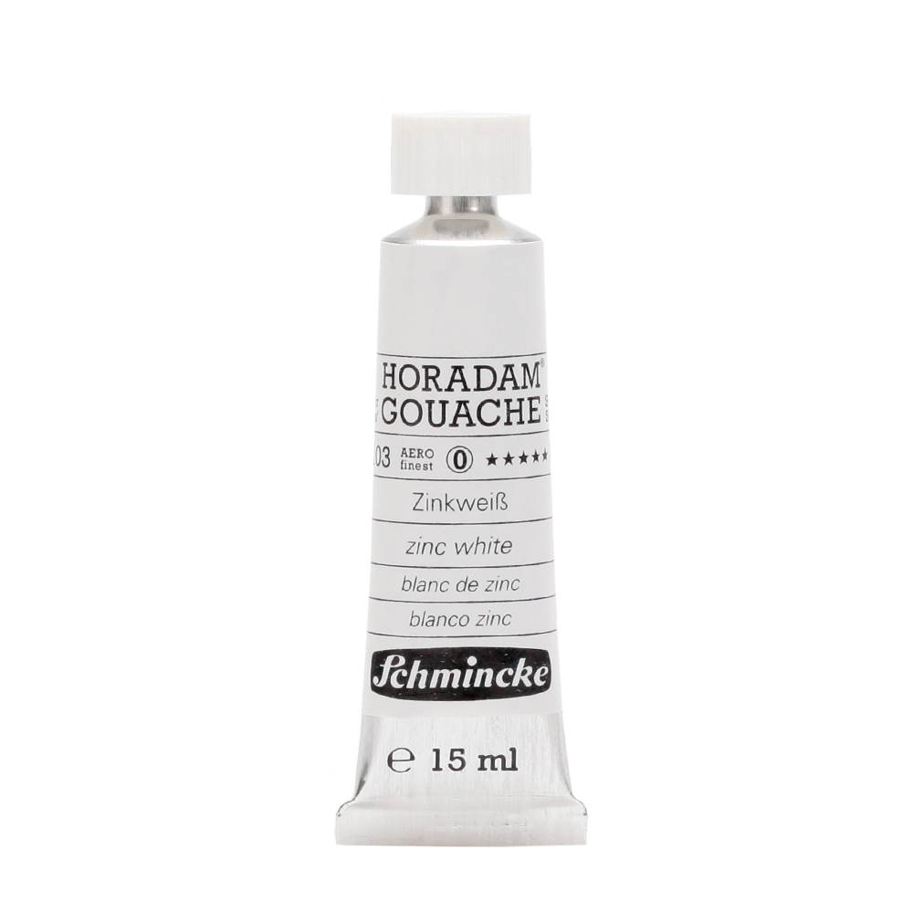 HORADAM® GOUACHE Zinkweiß Tube  15 ml 12103006
