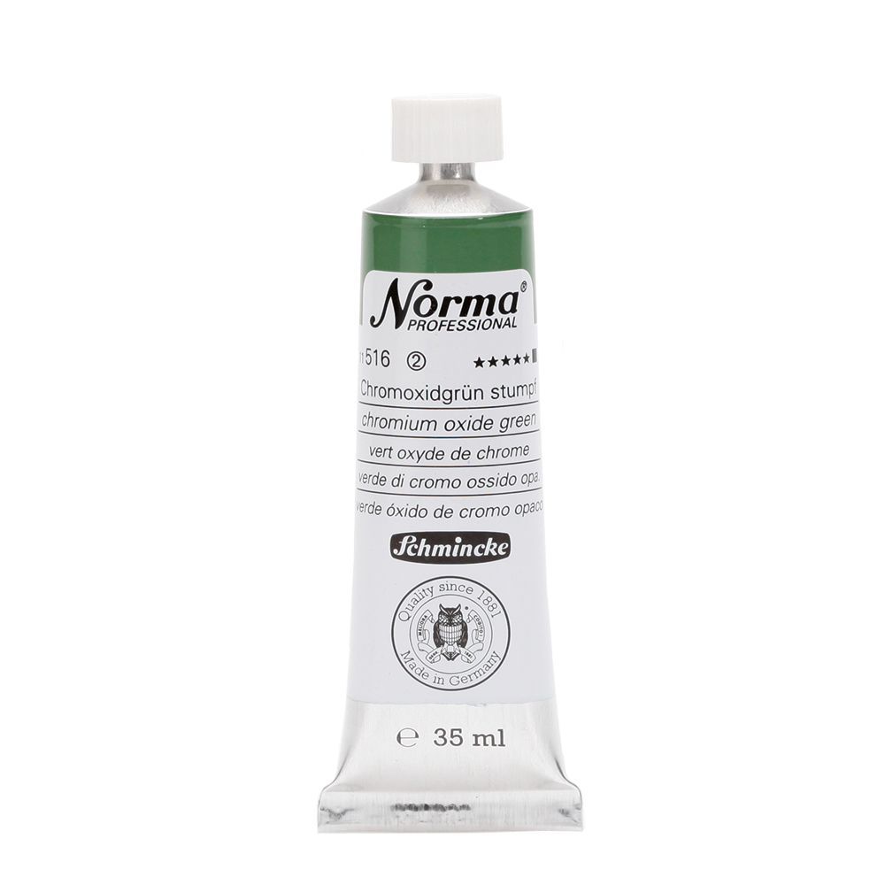 Norma® Professional Chromoxidgrün stumpf Tube  35 ml 11516009