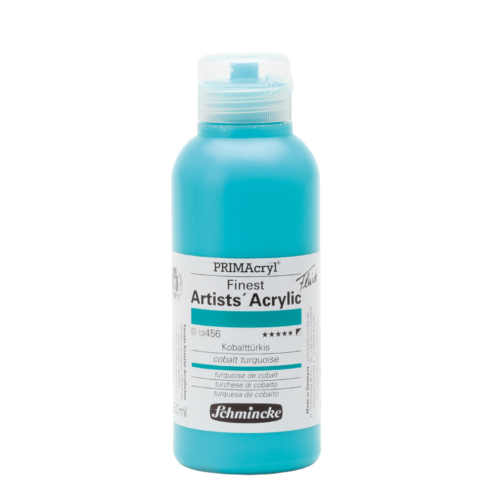 PRIMAcryl® Finest Artists' Acrylic Kobalttürkis Flasche  250 ml 13456027