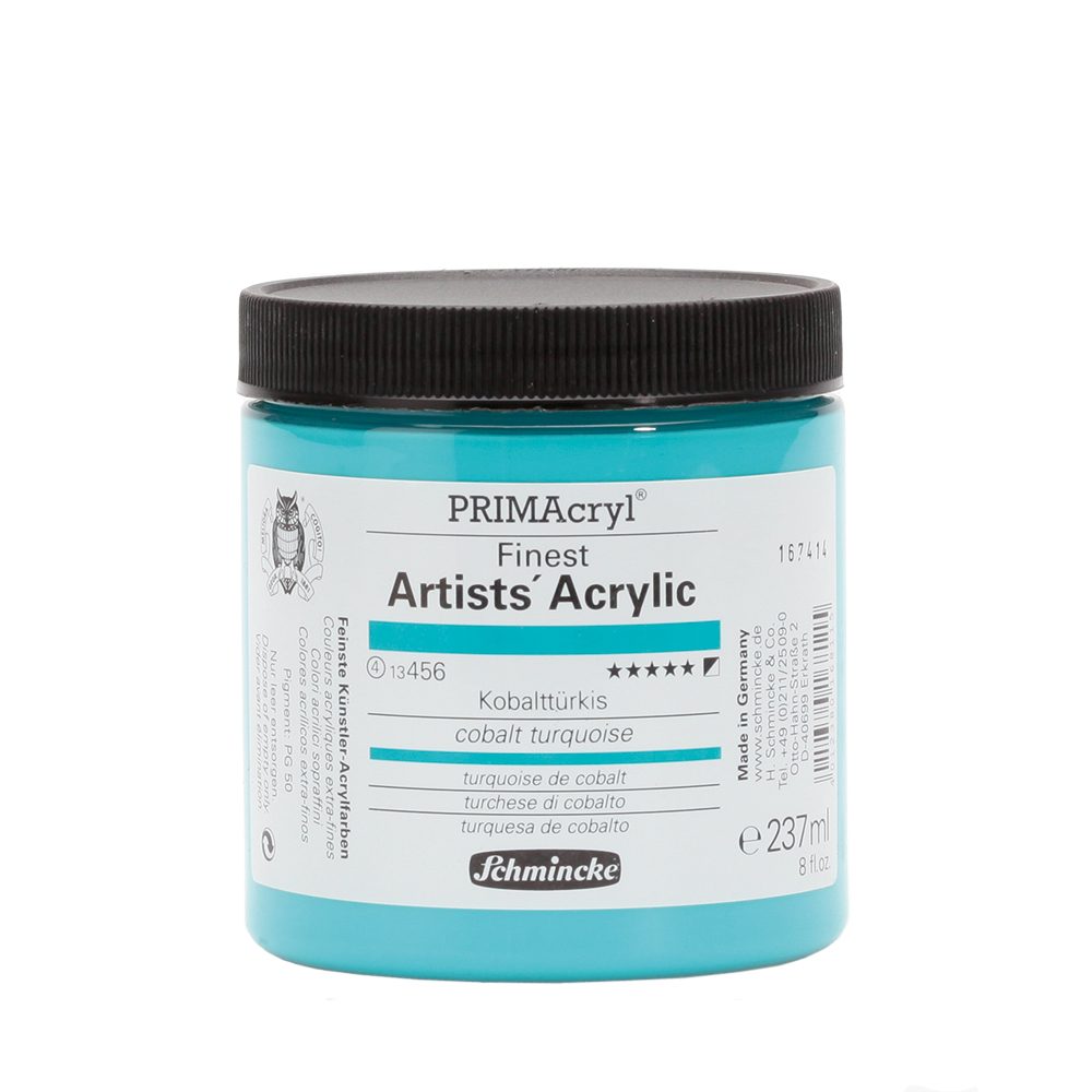 PRIMAcryl® Finest Artists' Acrylic Kobalttürkis Tiegel  237 ml 13456053
