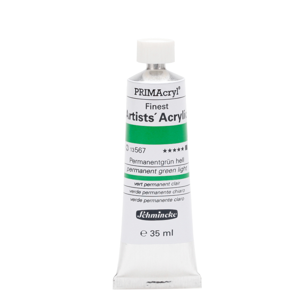 PRIMAcryl® Finest Artists' Acrylic Permanentgrün hell Tube  35 ml 13567009
