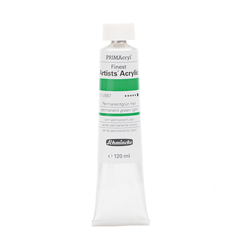 PRIMAcryl® Finest Artists' Acrylic Permanentgrün hell Tube  120 ml 13567012