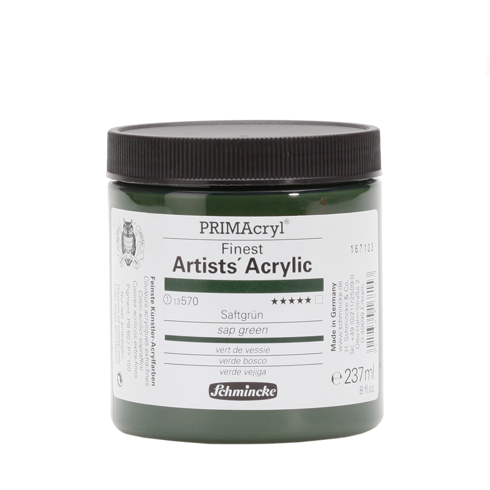 PRIMAcryl® Finest Artists' Acrylic Saftgrün Tiegel  237 ml 13570053