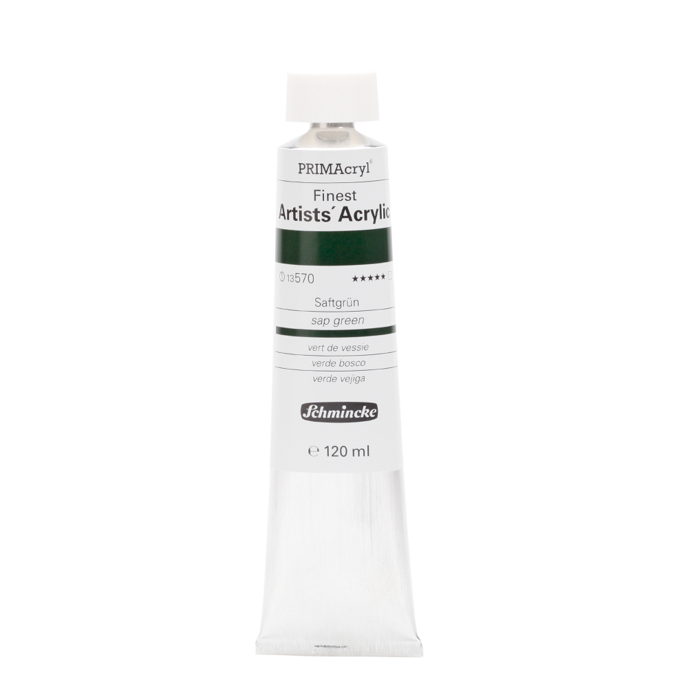 PRIMAcryl® Finest Artists' Acrylic Saftgrün Tube  120 ml 13570012