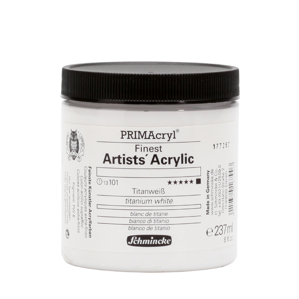 PRIMAcryl® Finest Artists' Acrylic Titanweiß Tiegel  237 ml 13101053