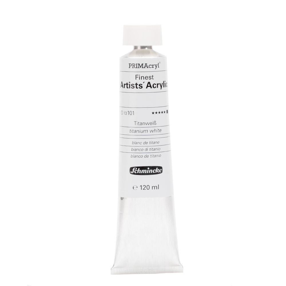 PRIMAcryl® Finest Artists' Acrylic Titanweiß Tube  120 ml 13101012