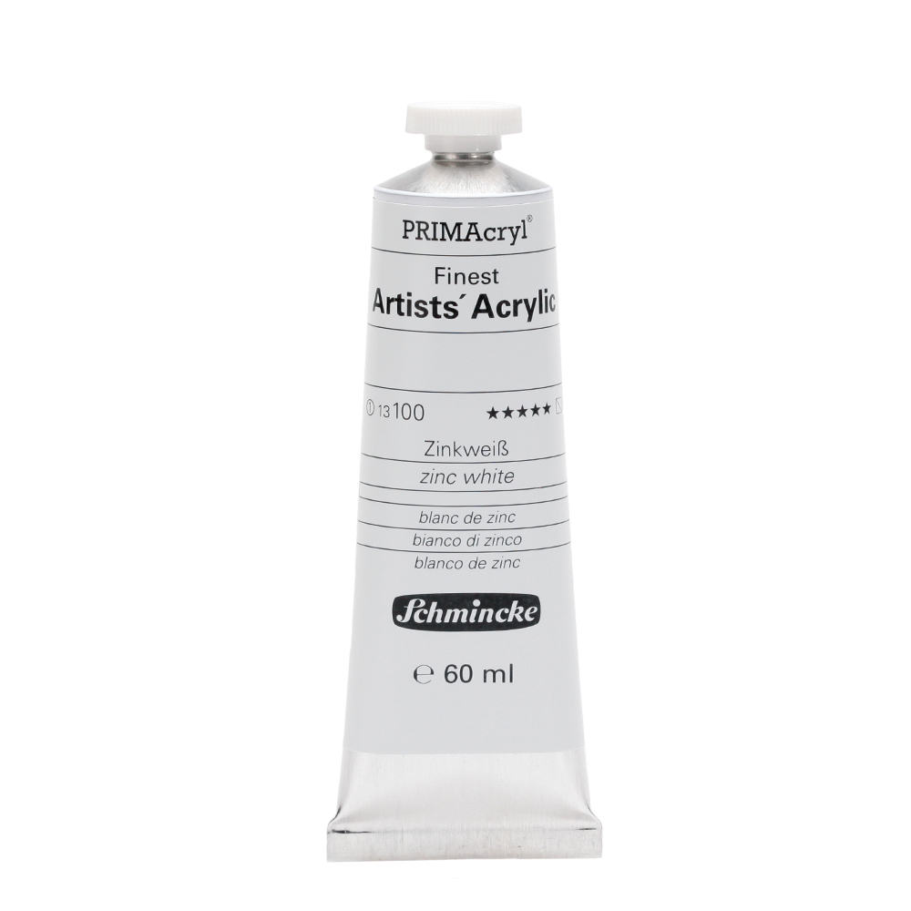 PRIMAcryl® Finest Artists' Acrylic Zinkweiß Tube  60 ml 13100011